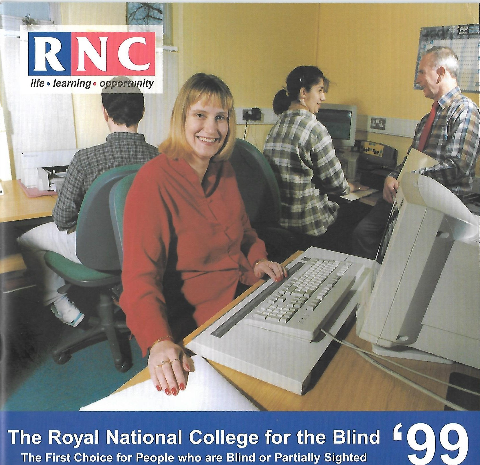 RNC Prospectus 1999, cover featuring staff and students, including Armineh